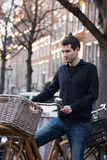 Straten van Amsterdam stock fotografie