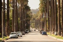 Straten van Beverly Hills in Californië stock afbeelding