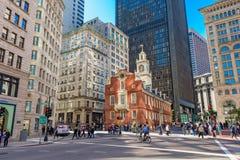 Straten van Boston Stock Afbeeldingen
