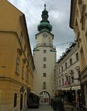 Straten van Bratislava, Slowakije - royalty-vrije stock afbeelding