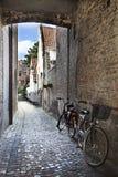 Straten van Brugge, België stock foto