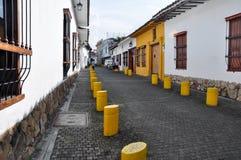 Straten van Cali, in Colombia stock afbeelding