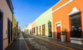 Straten van Campeche, Campeche, Mexico Royalty-vrije Stock Foto