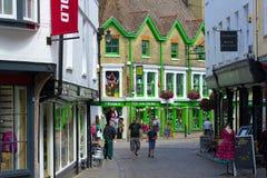 Straten van Canterbury, het UK stock foto