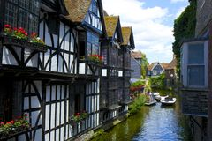 Straten van Canterbury, het UK Stock Foto's