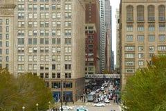 Straten van Chicago royalty-vrije stock foto's