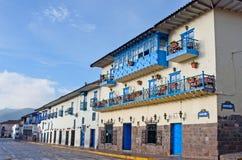 Straten van Cuzco, Peru Royalty-vrije Stock Foto's