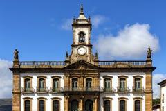 Straten van de historische stad Ouro Preto Brazilië stock fotografie