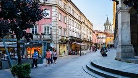 Straten van de stad van Braga royalty-vrije stock afbeelding
