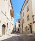 Straten van de stad van Antibes Stock Afbeeldingen