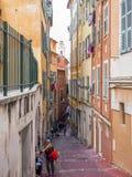 Straten van de stad van Nice Royalty-vrije Stock Afbeeldingen