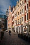 Straten van de stad van Riga royalty-vrije stock foto