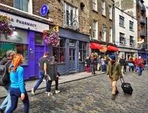 Straten van Dublin Stock Afbeeldingen