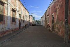 Straten van Eiland Mozambique Royalty-vrije Stock Afbeeldingen