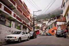 Straten van Favela Vidigal in Rio de Janeiro stock afbeeldingen