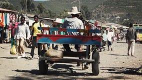 Straten van ginchistad in Ethiopië stock footage