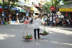 Straten van Hanoi Stock Foto