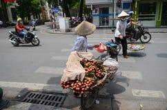 Straten van Hanoi Stock Foto's