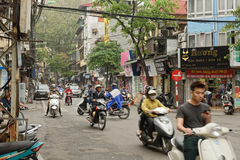Straten van Hanoi Royalty-vrije Stock Foto's