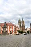 Straten van het eiland van Tumski van Wroclaw Stock Foto's