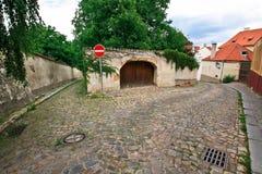 Straten van het kasteel van Praag Stock Afbeeldingen