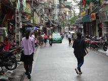 Straten van het Oude Kwart van Hanoi ` s Royalty-vrije Stock Foto