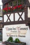 Straten van het Petite France -district in Straatsburg Royalty-vrije Stock Foto