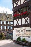 Straten van het Petite France -district in Straatsburg Stock Foto