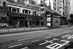 Straten van Hong Kong Stock Afbeeldingen