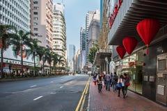 Straten van Hong Kong Royalty-vrije Stock Fotografie