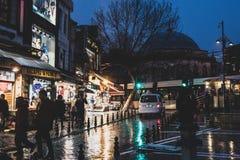 Straten van Istanboel dichtbij de Grote Bazaar royalty-vrije stock afbeeldingen