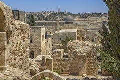 Straten van Jeruzalem royalty-vrije stock afbeelding