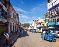 Straten van Kandy, Sri Lanka Stock Fotografie