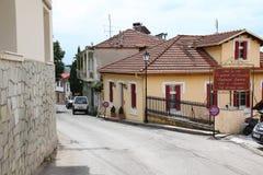 Straten van Kastoria, Griekenland Stock Foto