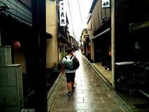 Straten van Kyoto in de zomer stock afbeeldingen