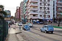 Straten van La Habana Cuba stock foto's