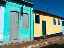 Straten van Lençois Chapada DIamantina, Brazilië stock fotografie