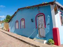 Straten van Lençois Chapada DIamantina, Brazilië stock foto's