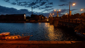 Straten van Liepaja, Letland Stock Foto's