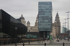 Straten van Liverpool, in het UK Royalty-vrije Stock Foto's