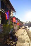 Straten van Luang Prabang Stock Foto's
