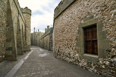 Straten van middeleeuwse stad Stock Fotografie