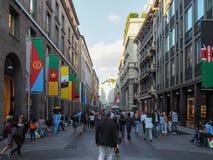 Straten van Milaan Stock Afbeeldingen