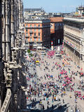 Straten van Milaan Stock Fotografie