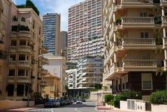 Straten van Monaco de stad in Stock Afbeelding