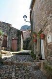 Straten van Monsanto, Portugees historisch dorp Stock Fotografie