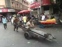 Straten van Mumbai Stock Foto