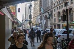 Straten van New York Stock Foto's