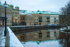 Straten van Oslo, Noorwegen Stock Afbeeldingen