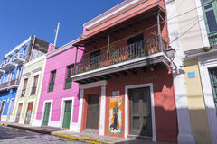 Straten van Oud San Juan Stock Fotografie